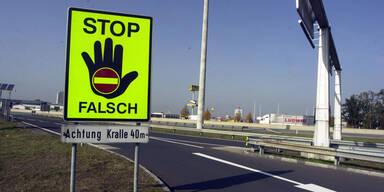 Lenker (88) elf Kilometer als Geisterfahrer auf A1