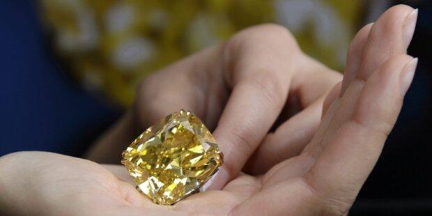 Gelber Diamant für 12 Mio. Euro versteigert