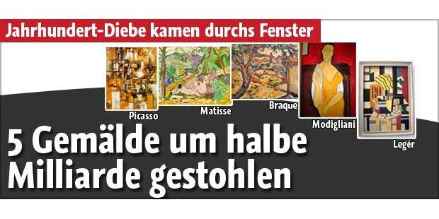 Kunst für 500 Mio. aus Museum gestohlen