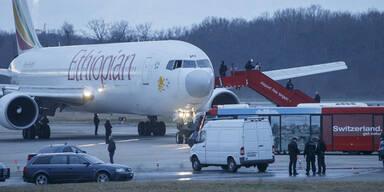 Flugzeug nach Genf entführt