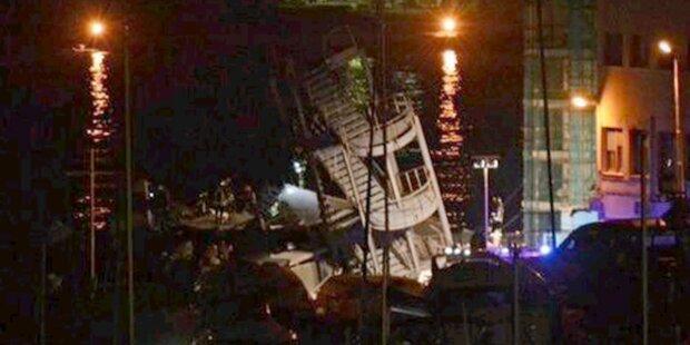 Schiff prallte gegen Tower: Sieben Tote