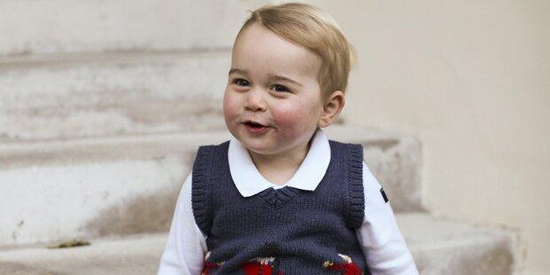 So süß ist Prinz George