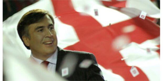 Saakaschwili vor Sieg bei Präsidentenwahl in Georgien