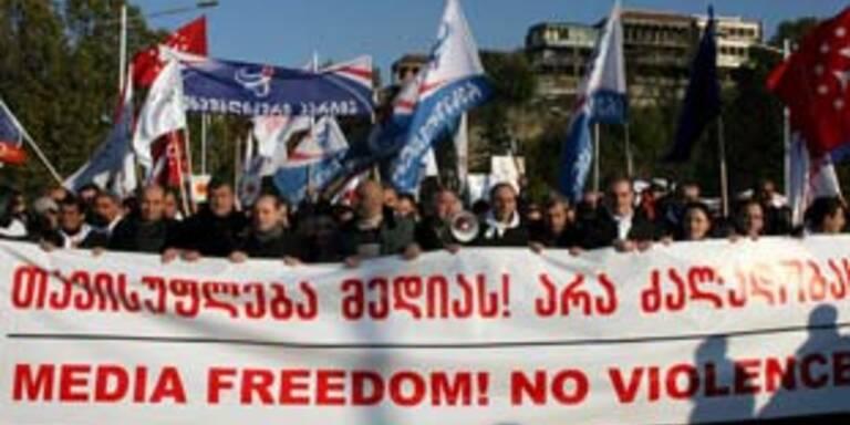 Massenproteste in Georgien
