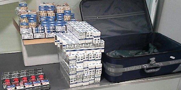 Lette hatte 14.280 Zigaretten im Gepäck