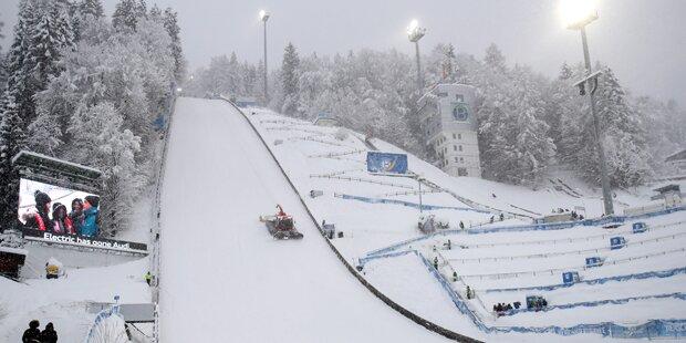 Schnee-Chaos: Skisprung-Quali in Bischofshofen abgesagt