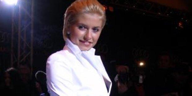 Lena Gercke schon in Topmodel-Laune