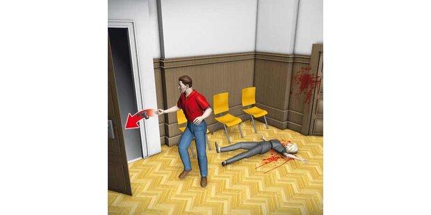 Mann tötet Gerichtsangestellte