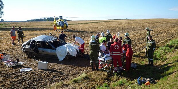 Crash: Verletzter erst nach Stunden entdeckt