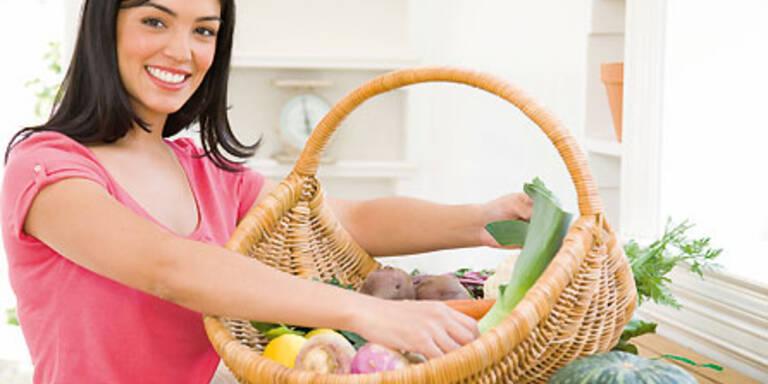 Beim Einkauf auf ausgewogene und hochwertige Speisen achten.