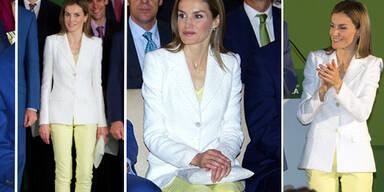Königin Letizia in stylishem Zitronengelb