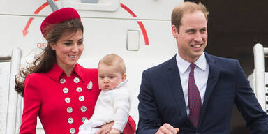 Kate & Will mit Baby George in Neuseeland