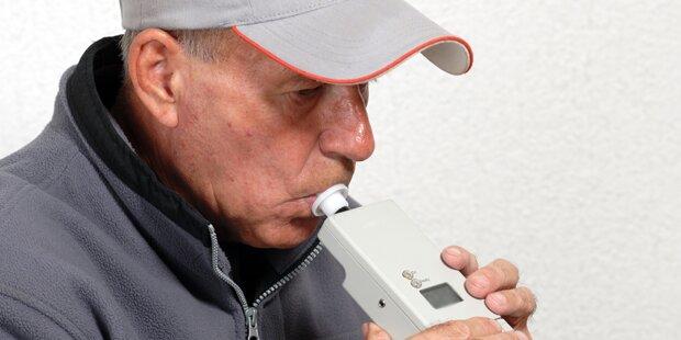 Mann bringt Alko-Test an die Grenze