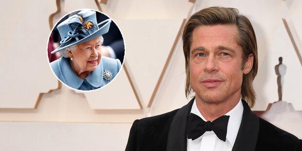 Brad Pitt ist mit der Queen verwandt