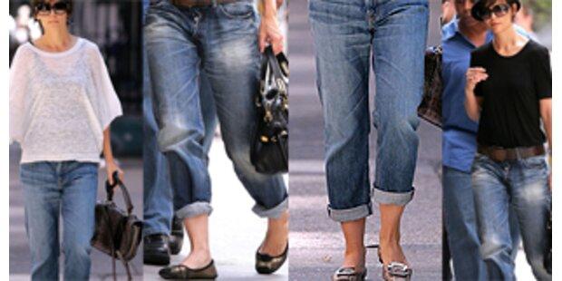 Hat Katie Holmes Toms Hosen an?