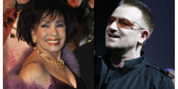 Shirley Bassey und Bono Vox singen 007-Song