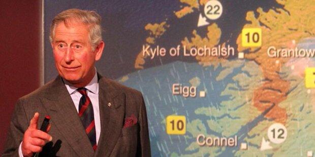 Prinz Charles als Wetterfrosch im TV