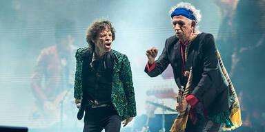 Rolling Stones traten erstmals in Glastonbury auf