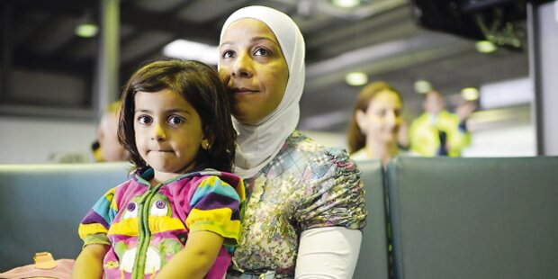 Die Syrien-Flüchtlinge kommen an