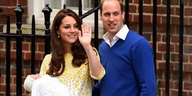 Herzogin Kate & Prinz William zeigen ihre Tochter