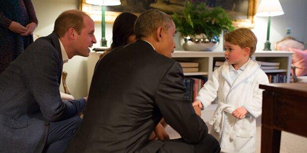 Präsident Obama traf Prinz George