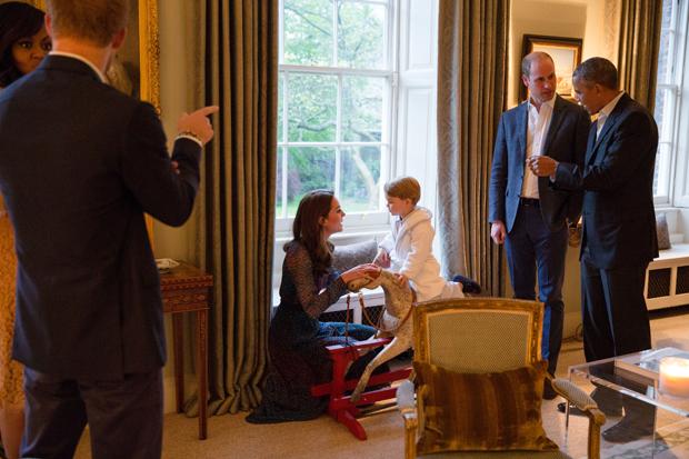 Prinz George & Präsident Obama