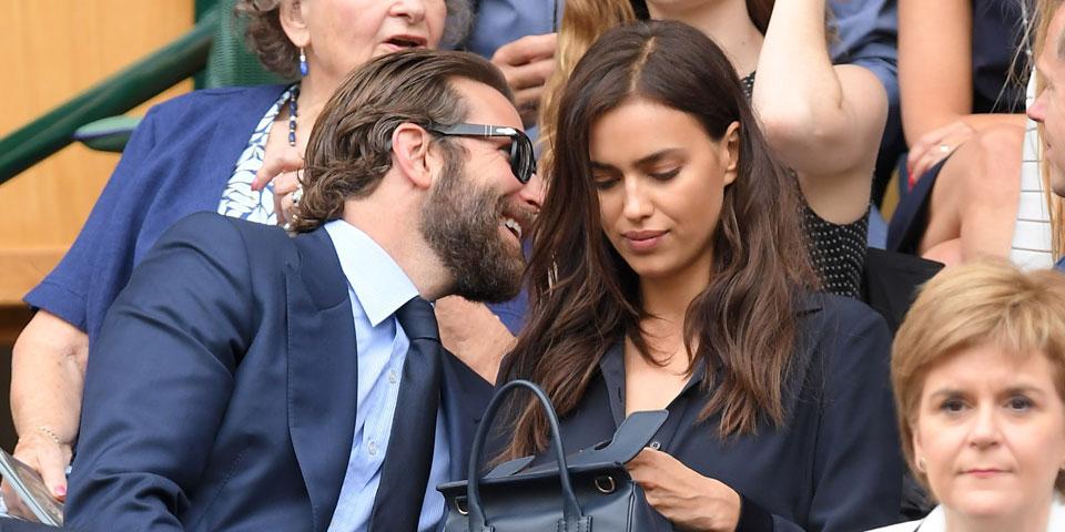Irina Shayk & Bradley Cooper in Wimbledon