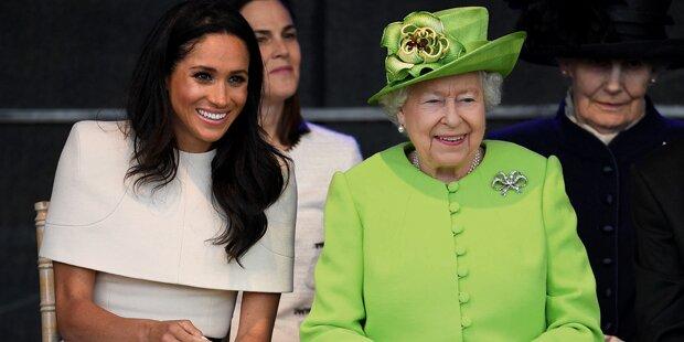 Meghan liefert sich Fauxpas vor der Queen