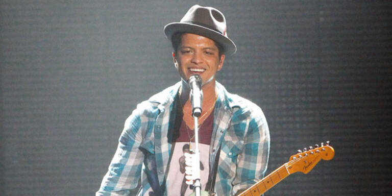 Bruno Mars macht bei uns mobil