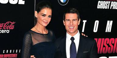 Tom Cruise mit Katie Holmes