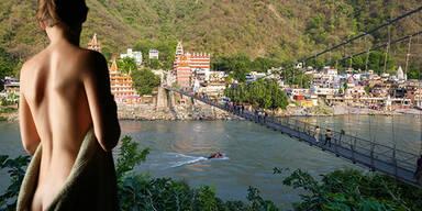 Frau nach Dreh von Nacktvideo auf heiliger Brücke in Indien in Haft