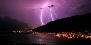 Kaltfront bringt Regen und Gewitter