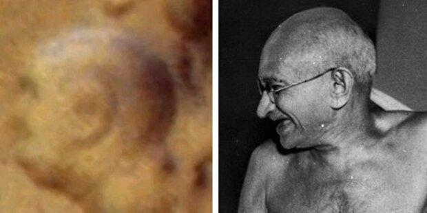 Ghandis Gesicht auf dem Mars zu sehen?