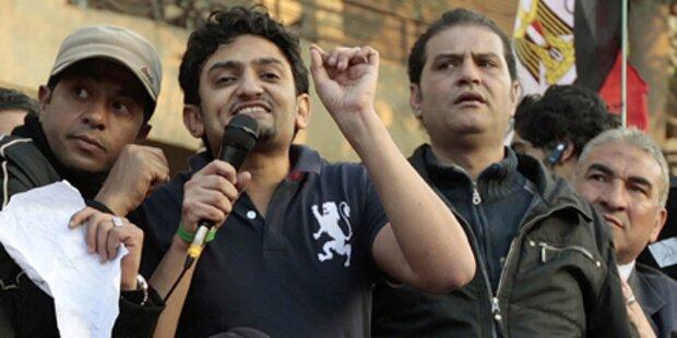 Internet-Aktivist Ghonim in Kairo bejubelt