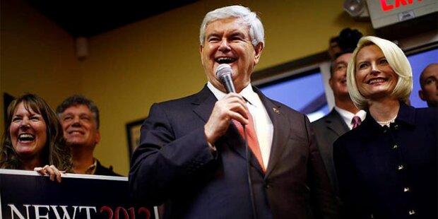 Heuchler Gingrich 11 % hinter Obama, Romney gleichauf