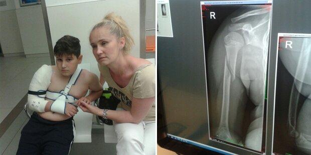 Ärzte schicken schwer verletzten Bub heim