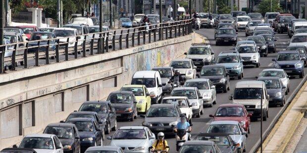 Verkehr in Athen lahmgelegt