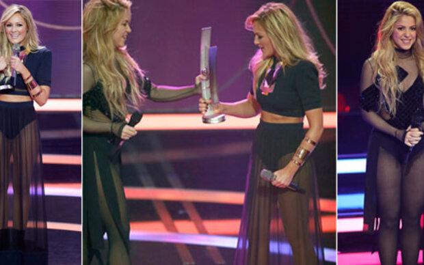 Zwillings-Outfit: Shakira und Helene Fischer