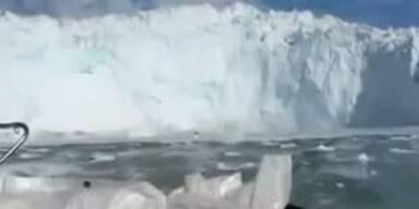Gletscher-Abbruch verursacht Flutwelle