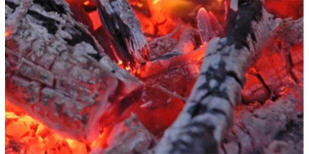 Heiße Asche im Mist löst Brand aus