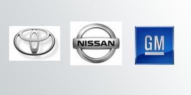 Toyota, Nissan und GM kämpfen mit Rückrufen.
