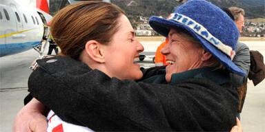 Elisabeth Görgl in Innsbruck empfangen