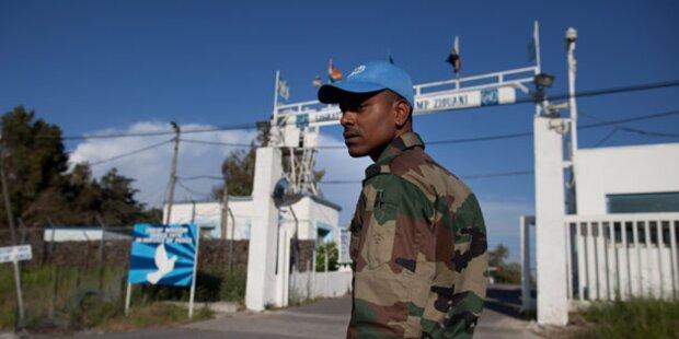 Vier Blauhelme auf Golanhöhen entführt