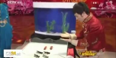 Synchronschwimmende Goldfische