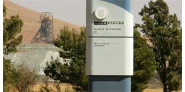 Goldminen in Südafrika stehen still