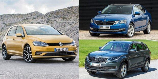 Neuer VW Golf, Skoda Octavia & Kodiaq starten
