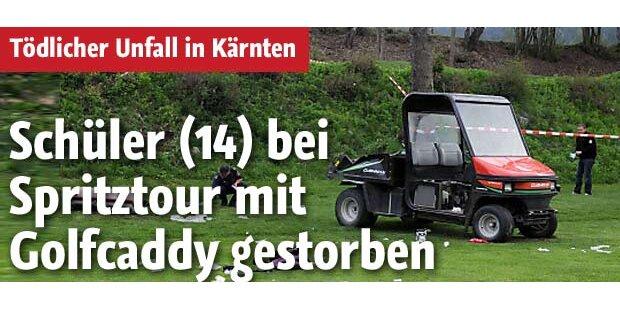 Schüler verunglückt mit Golfwagen - tot
