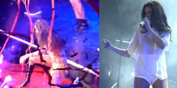 Selena Gomez segelt bei Gig von der Bühne