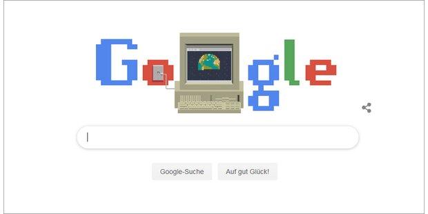 Cooles Google-Doodle und erste Homepage online