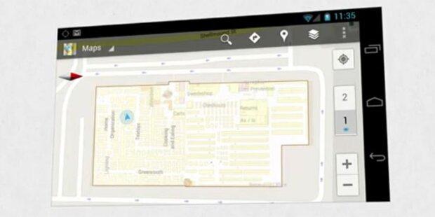 Google Maps 6.0 zeigt Gebäude von innen
